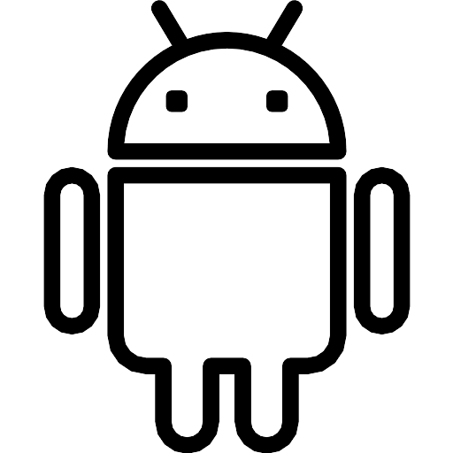 Android black and white logo